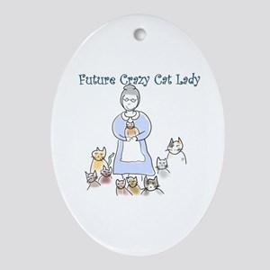 Futurecatlady Oval Ornament