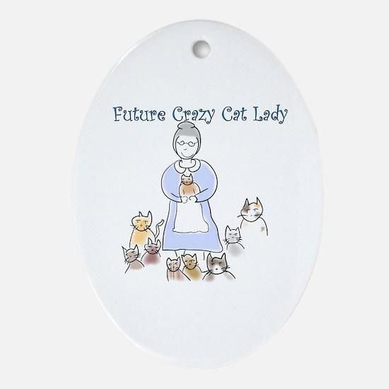 Futurecatlady.png Oval Ornament