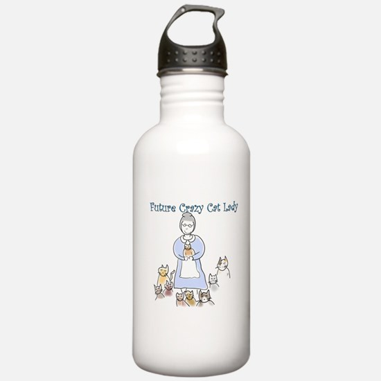 Futurecatlady.png Water Bottle