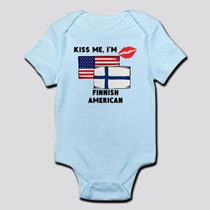 Kiss Me Im Finnish American Body Suit