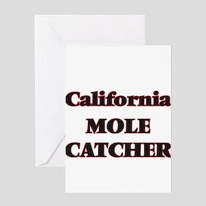 California Mole Catcher Greeting Cards