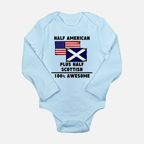 Half Scottish 100% Awesome Body Suit