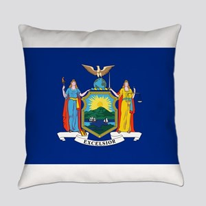New York State Flag Everyday Pillow