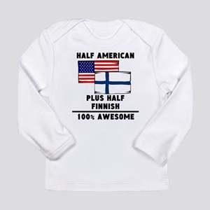 Half Finnish 100% Awesome Long Sleeve T-Shirt