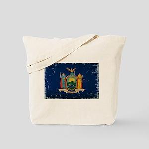 New York State Flag VINTAGE Tote Bag