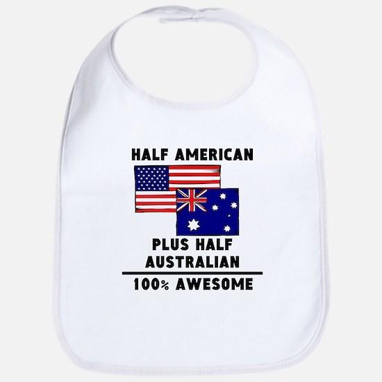 Half Australian 100% Awesome Bib