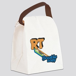 RT Respiratory Therapy Breathe Ea Canvas Lunch Bag