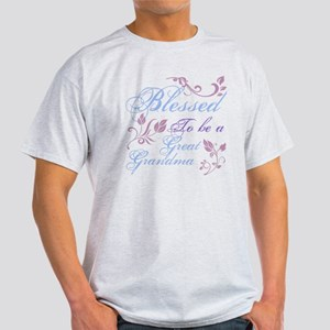 Blessed To Be A Great Grandma Light T-Shirt