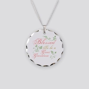 Blessed To Be A Great Grandm Necklace Circle Charm