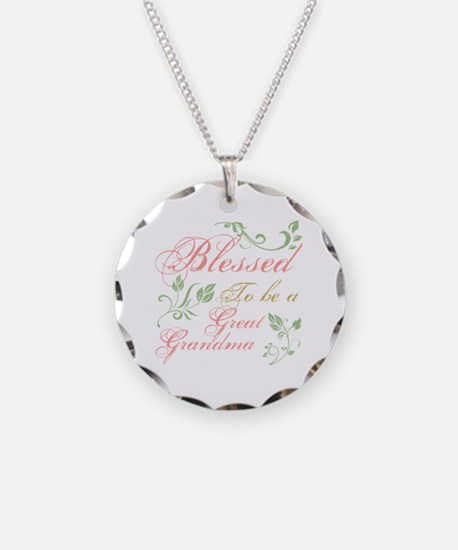Blessed To Be A Great Grandm Necklace