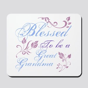 Blessed To Be A Great Grandma Mousepad