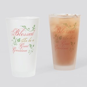 Blessed To Be A Great Grandma Drinking Glass