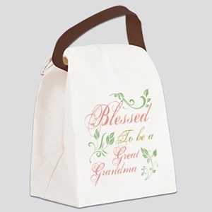 Blessed To Be A Great Grandma Canvas Lunch Bag