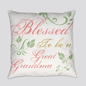 Blessed To Be A Great Grandma Everyday Pillow