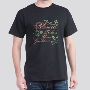 Blessed To Be A Great Grandma Dark T-Shirt