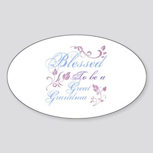Blessed To Be A Great Grandma Sticker (Oval)