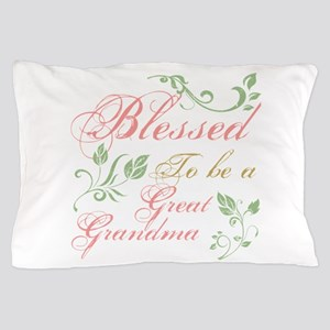 Blessed To Be A Great Grandma Pillow Case