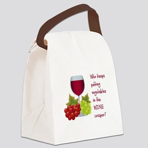 Funny Wine Lovers Quote Canvas Lunch Bag