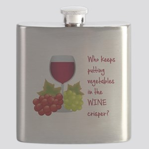 Funny Wine Lovers Quote Flask