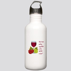 Funny Wine Lovers Quote Water Bottle