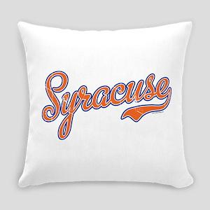 Syracuse Script Font Orange VINTAG Everyday Pillow