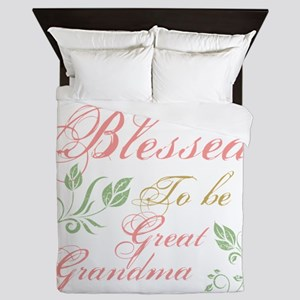 Blessed To Be A Great Grandma Queen Duvet