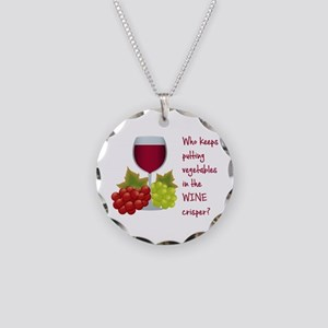 Funny Wine Lovers Quote Necklace Circle Charm
