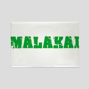 Malakai Name Weathered Green Design Magnets