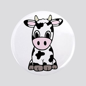 Cute Cartoon Cow Button