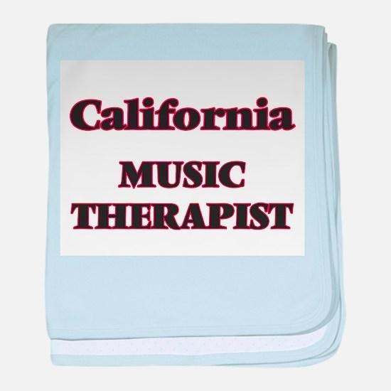 California Music Therapist baby blanket