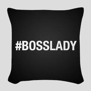 Hashtag Bosslady Woven Throw Pillow