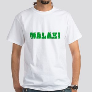 Malaki Name Weathered Green Design T-Shirt