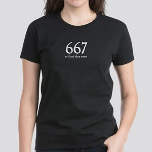 667 Evil and Then Some Women's Dark T-Shirt