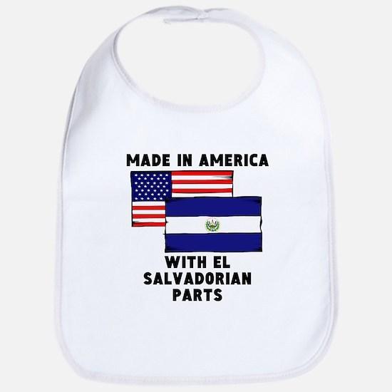 Made In America With El Salvadorian Parts Bib