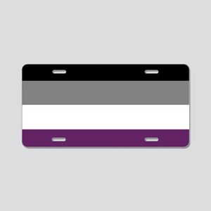 Asexuality Flag Aluminum License Plate