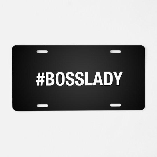 Hashtag Bosslady Aluminum License Plate