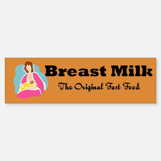 Breast Milk Bumper Bumper Bumper Sticker