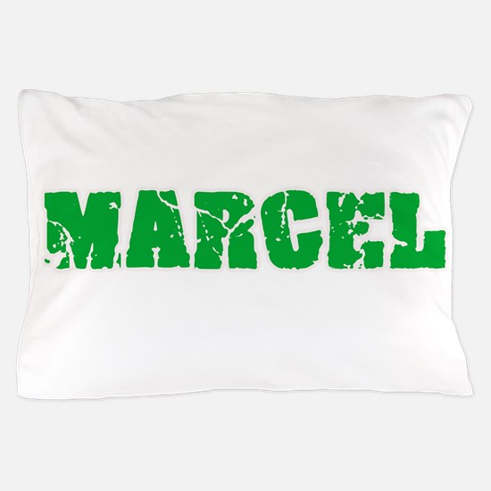 Marcel Name Weathered Green Design Pillow Case