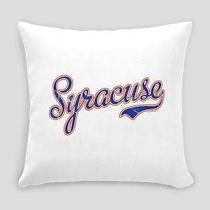 Syracuse Script Font VINTAGE Everyday Pillow