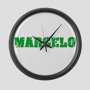 Marcelo Name Weathered Green Desi Large Wall Clock