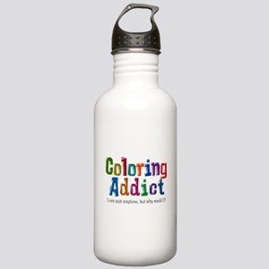 Coloring Addict Water Bottle