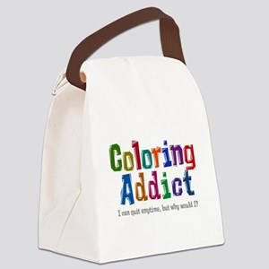 Coloring Addict Canvas Lunch Bag