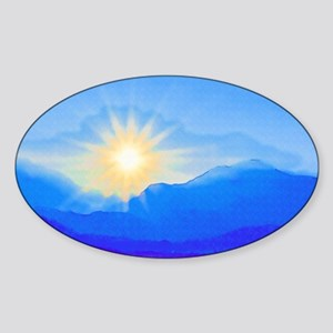 Watercolor Sunrise Sticker (Oval)