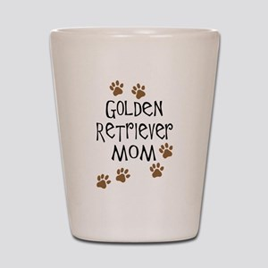 golden retriever mom Shot Glass