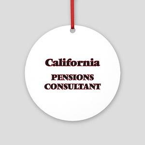 California Pensions Consultant Round Ornament