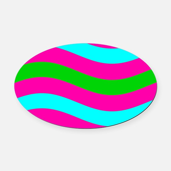 Wave's Kaye's Fave Oval Car Magnet