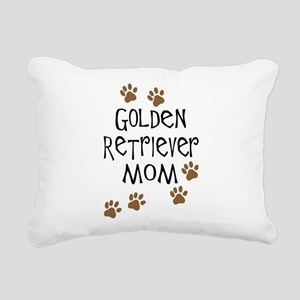 golden retriever mom Rectangular Canvas Pillow