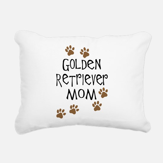 golden retriever mom.png Rectangular Canvas Pillow
