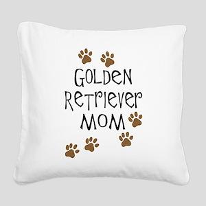 golden retriever mom Square Canvas Pillow
