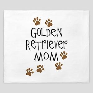 golden retriever mom King Duvet